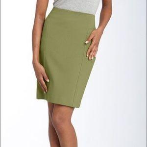 Nordstroms Halogen Green Pencil Skirt Size 14P